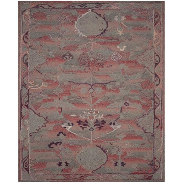Safavieh Vintage Oushak Hand-Tufted Red Area Rug,VOS741C-8