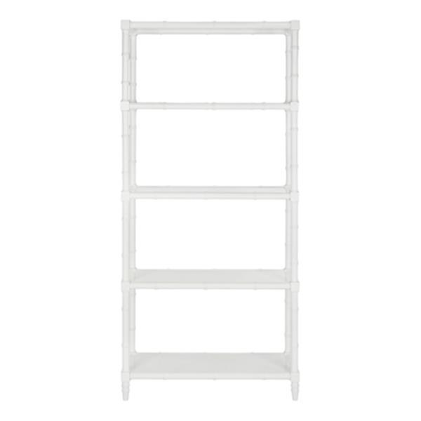 Safavieh Ebo 4 Tier Etagere White Open Back Bookcase