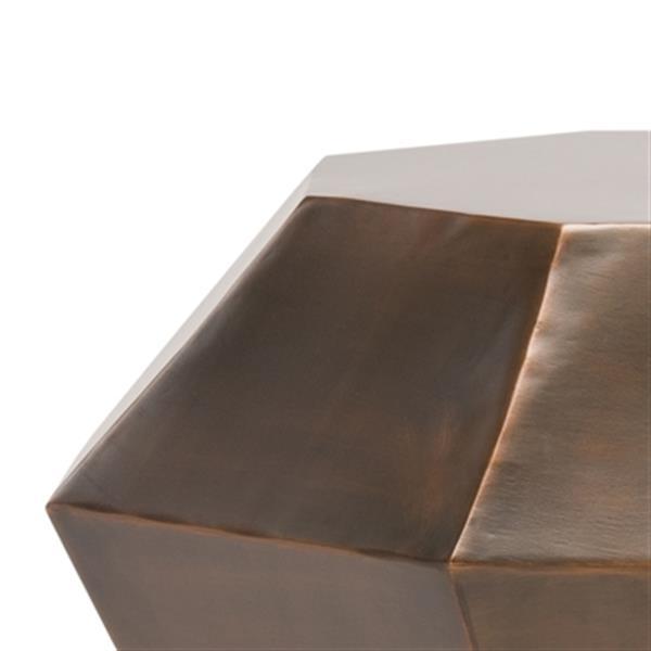 Safavieh Grace 18-in Antique Copper Diamond Accent Table