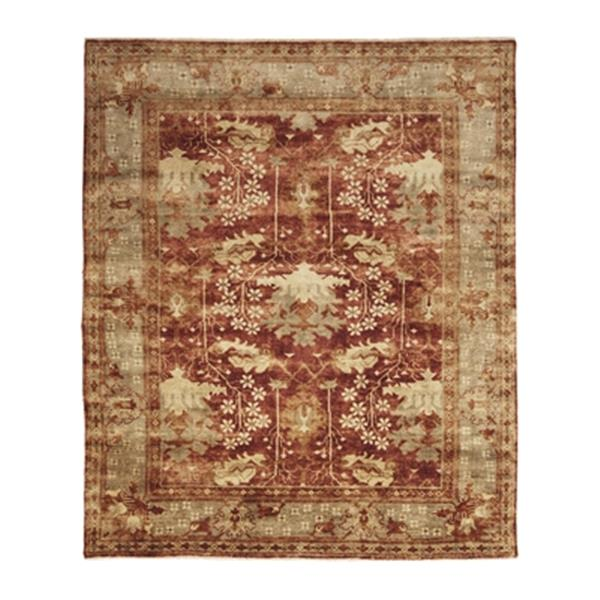 Safavieh OSH108A Oushak Hand Knotted Red/Green Area Rug,OSH1