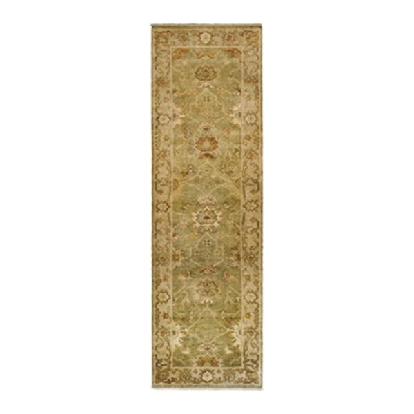 Safavieh Oushak Hand Knotted Green and Beige Area Rug,OSH115