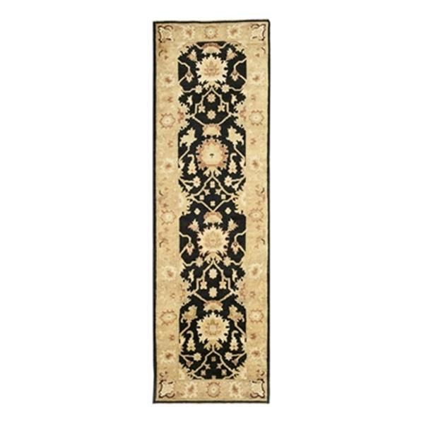 Safavieh Oushak Hand Knotted Black and Light Gold Area Rug,O