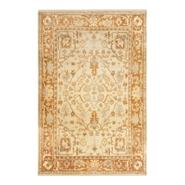 Safavieh Oushak Hand Knotted Ivory and Rust Area Rug,OSH122A