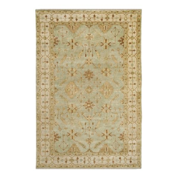 Safavieh Oushak Hand Knotted Soft Green and Ivory Area Rug,O
