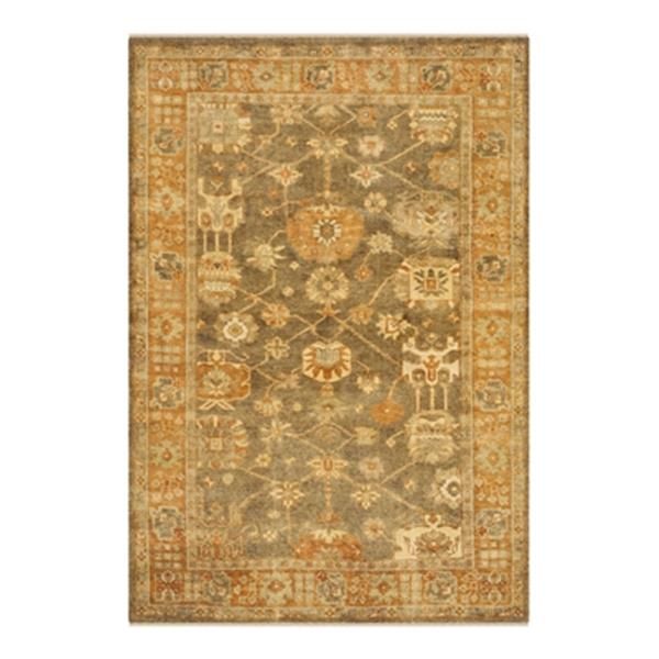 Safavieh Oushak Hand Knotted Brown and Rust Area Rug,OSH144A