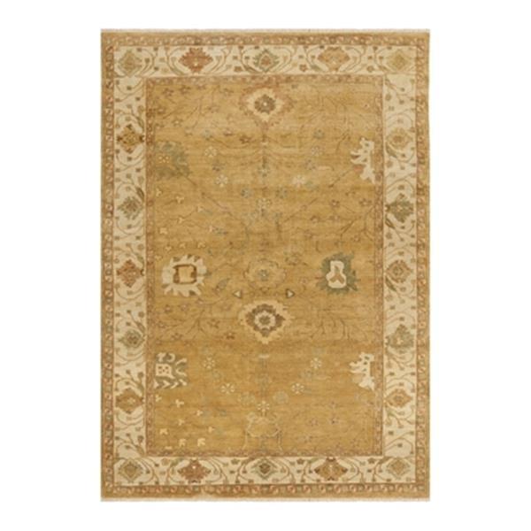 Safavieh Oushak Hand Knotted Gold and Ivory Area Rug,OSH145B