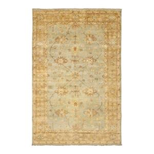 Safavieh Oushak Hand Knotted Light Blue and Gold Area Rug,OS