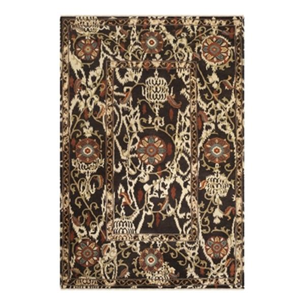 Safavieh Oushak Hand Knotted Dark Brown and Multicolor Area