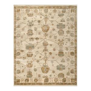 Safavieh Oushak Hand Knotted Ivory and Blue Area Rug,OSH751A