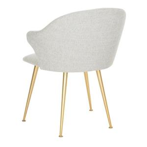 Safavieh Gray Edmond Arm Chair