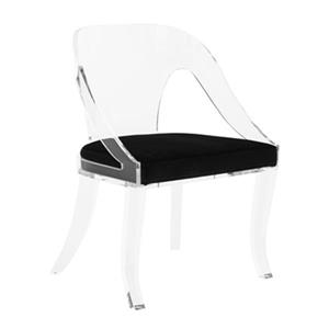 Safavieh Clear/Black Sabina Lucite Chair