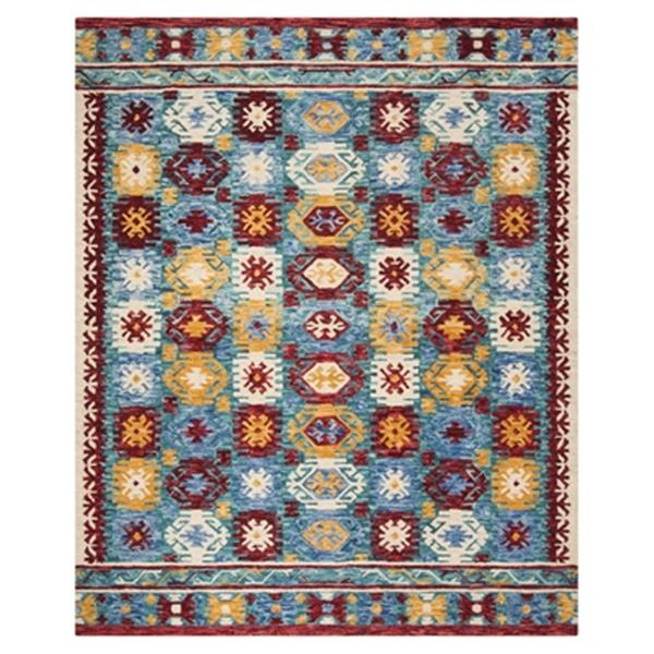 Safavieh Aspen Blue and Red Hand Tufted Area Rug,APN505A-8