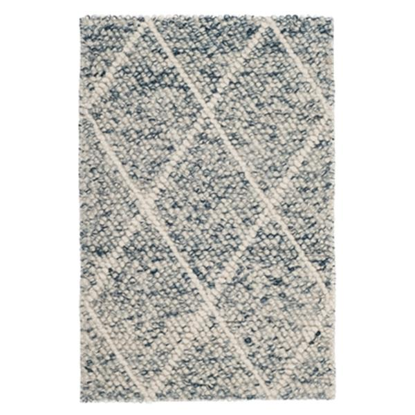 Safavieh Natura Ivory and Blue Hand Tufted Area Rug,NAT712B-