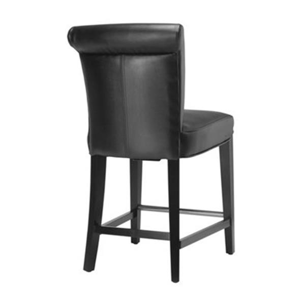 Safavieh Seth 25.90-in Black Bicast Leather Counter Stool