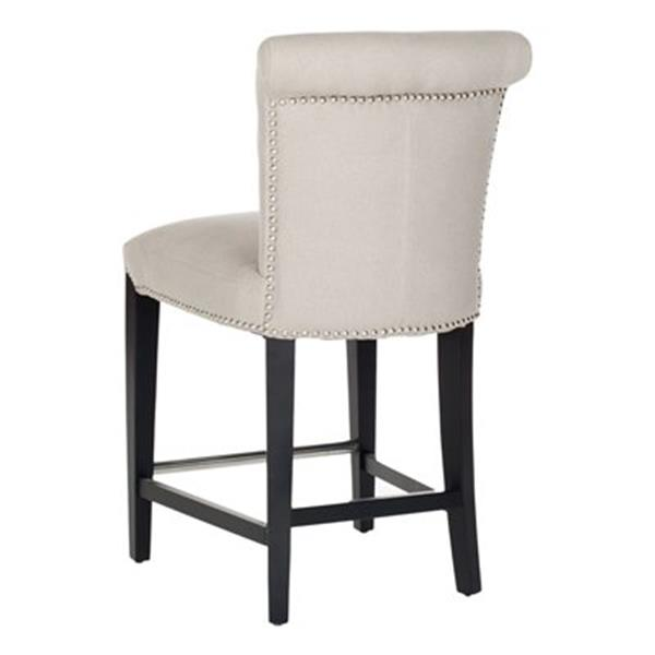 Safavieh Seth 25.90-in Beige Linen Counter Stool