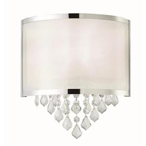 REESE Wall Sconce - Crystals & Chrome - 11.2