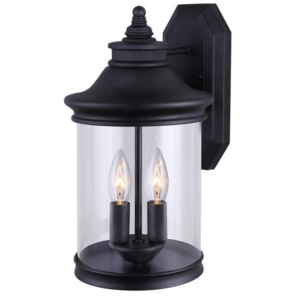 Canarm Ltd Bexley 13.25-in x 7.38-in Black Outdoor Wall Light