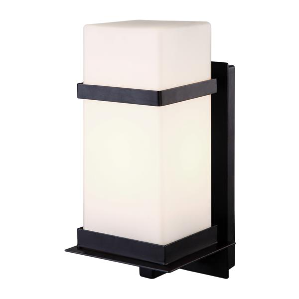 Canarm Ltd Havana 11.75-in Black White Glass Outdoor Uplight