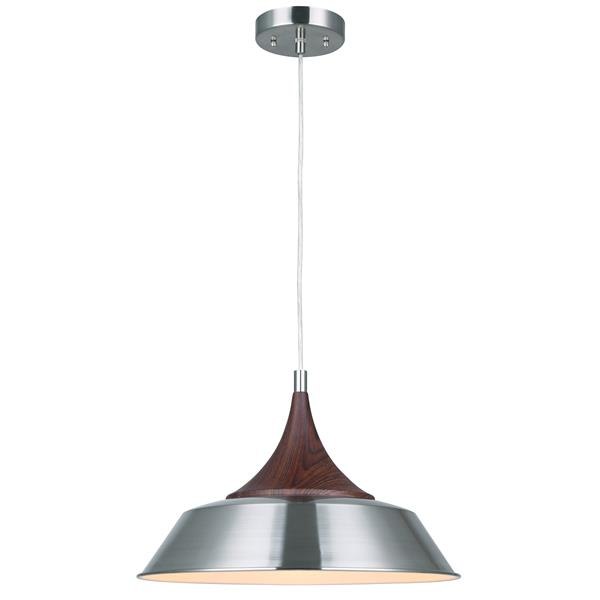 Canarm Ltd Pendant 14-In x 12-In x 60-In Brushed Nickel 1-Light Pendant Light