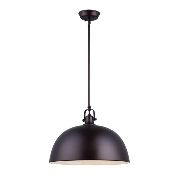 Canarm Ltd Polo 16-In x 14.5-In x 62.5-In Bronze 1-Light Pendant Light