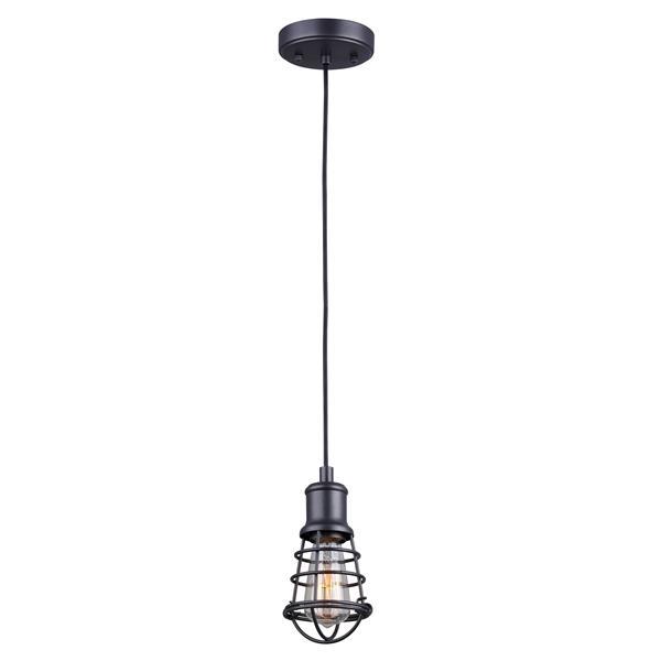 """Luminaire Suspendu, 1 Lumière, Noir Graphite, 4.75""""x17""""x58"""""""