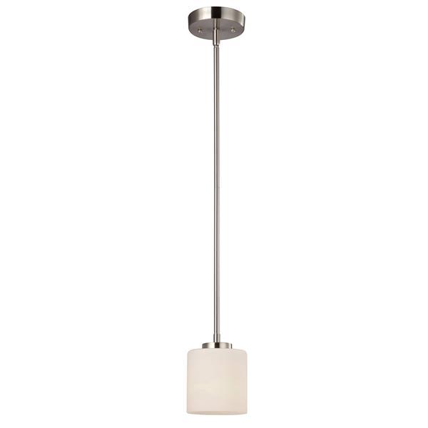 Cararm Ltd. LEIGHA 4.75-in x 8.5-in x 56.5-in Brushed Nickel 1-Light Pendant Light