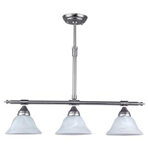 Canarm Ltd. ATHENA 27.5-in x 20-in x 39.5-in Pewter Brushed Pendant Light