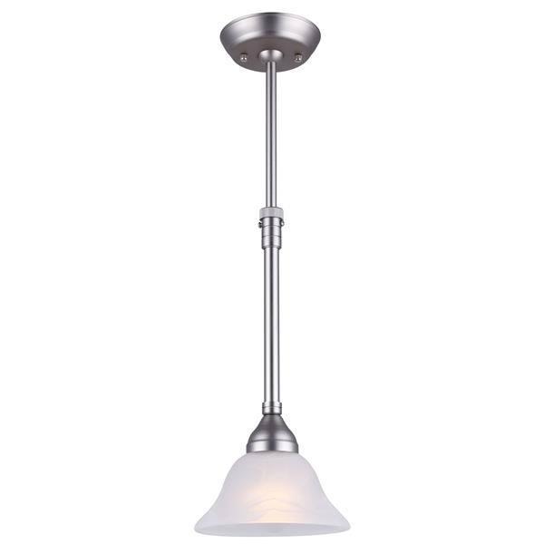 Canarm Ltd ATHENA 7.5-in x 17,25-in x 27-in Pewter Brushed Pendant Light