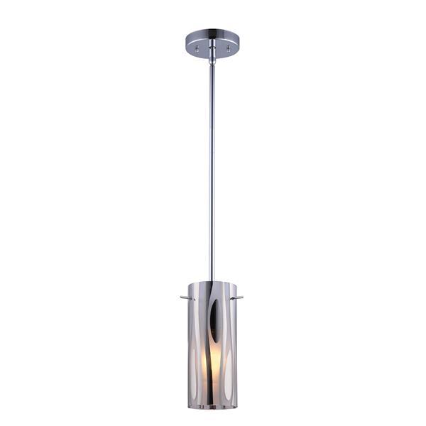 Canarm Ltd Kimberly 4.75-in x 59-in Chrome 1-Light Pendant