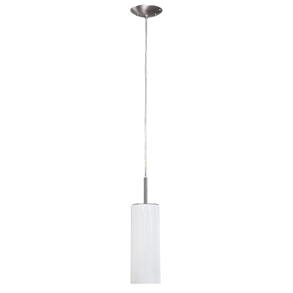 Canarm Ltd Helena 4.75-in x 63-in Brushed Pewter 1-Light Pendant