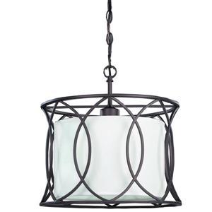 MONICA Pendant Light, Bronze and White, 13.5