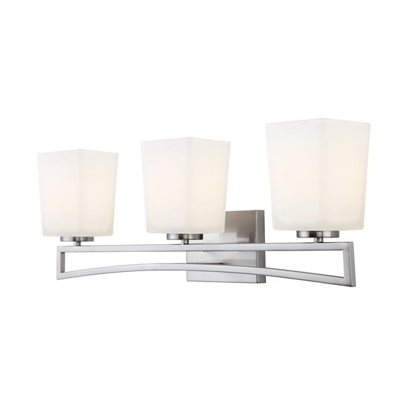 Canarm Ltd. ALEXA 3-Light Brushed Nickel 24.75-in Wall Light
