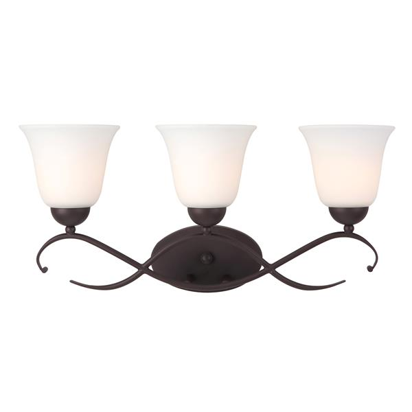Canarm Ltd LILY Bronze 22.75-in x 10.5-in x 7-in 3-Light Vanity Light