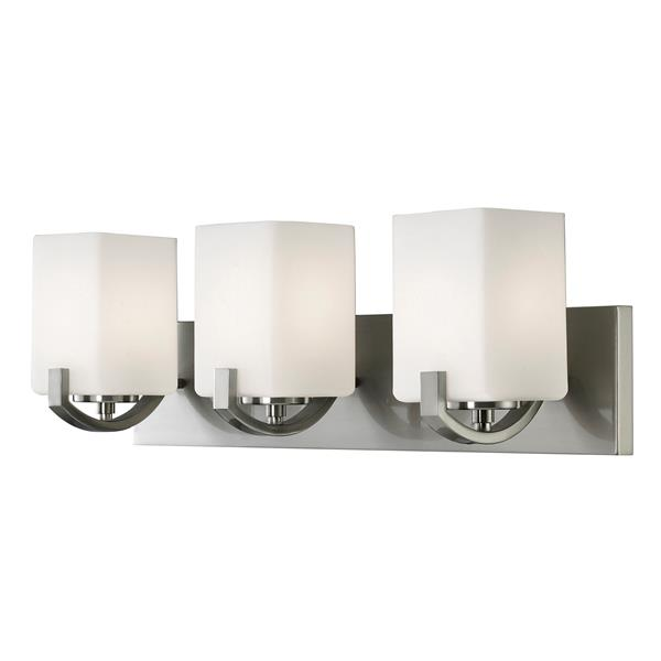 Palmer 24-in x 7.75-in x 6.75-in Brushed Nickel 3-Light Vanity