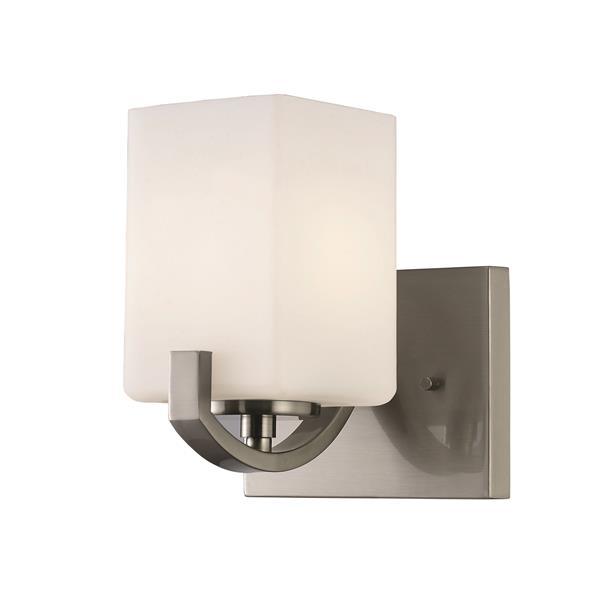 Canarm Ltd. Palmer 6.25-in x 7.75-in x 6.75-in Nickel Vanity Wall Light