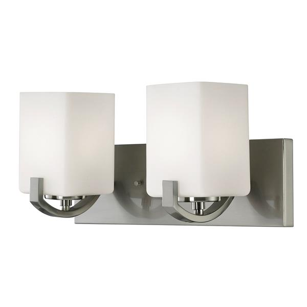 Palmer 16-in x 7.75-in x 6.75-in Brushed Nickel 3-Light Vanity