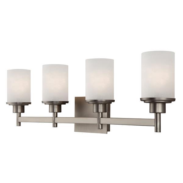 Canarm Ltd LYNDI Brushed Nickel 30-in x 9.25-in x 5.125-in 4-Light Vanity Light