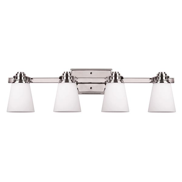 Canarm Ltd. Chatham Chrome 4-Light Bathroom Vanity Light