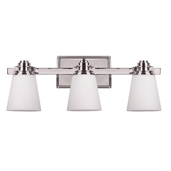 Canarm Ltd Chatham Chrome 3-Light Bathroom Vanity Light