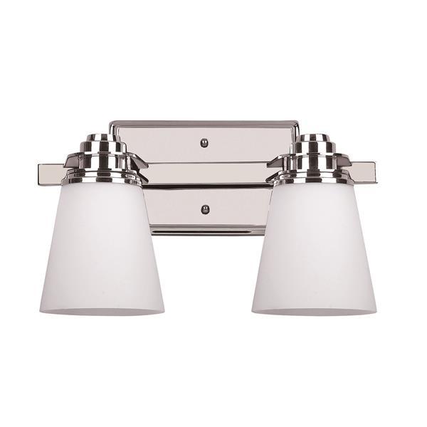 Canarm Ltd. Chatham Chrome 2-Light Bathroom Vanity Light