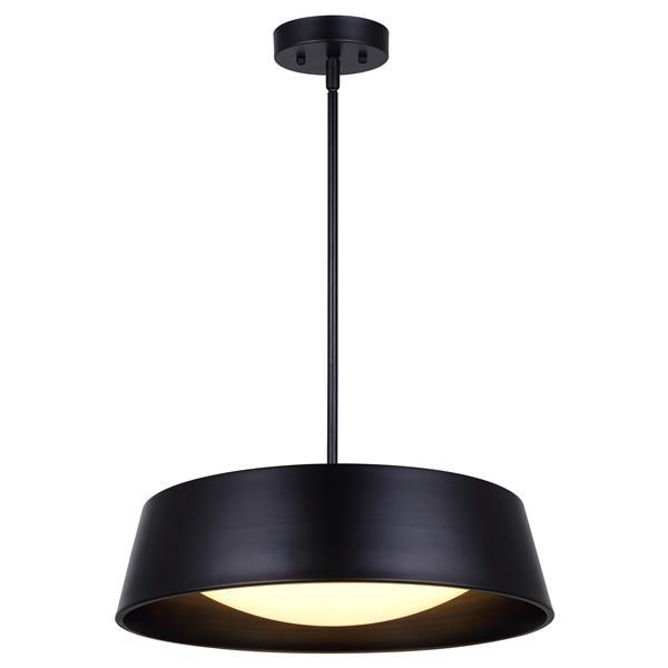 DION 17.75-in x 13.5-in x 55.5-in Black Matte Chandelier