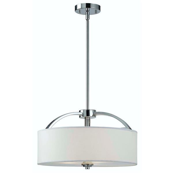 Canarm Ltd Milano 16.25-in x 18.5-n x 60.5-in Chrome Chandelier
