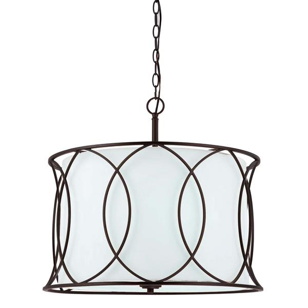 Canarm Ltd. Monica 20.5-in x 17.5-in Bronze Chandelier