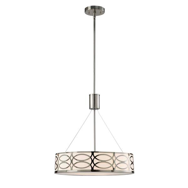 Canarm Ltd DRAKE 18.25-in x 27-in x 69-in Nickel Chandelier