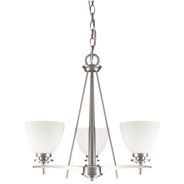 Canarm Ltd New Yorker 18-in x 21-in Brushed Pewter Chandelier