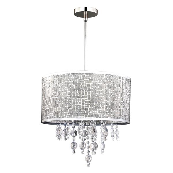 BENITO 15.75-in Chrome and Crystal Chandelier