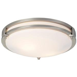 Canarm Ltd 12.5-in x 3.25-in Brushed Nickel Flushmount
