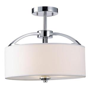 Canarm Ltd Milano 14.25-in x 13-in Chrome Semi Flushmount