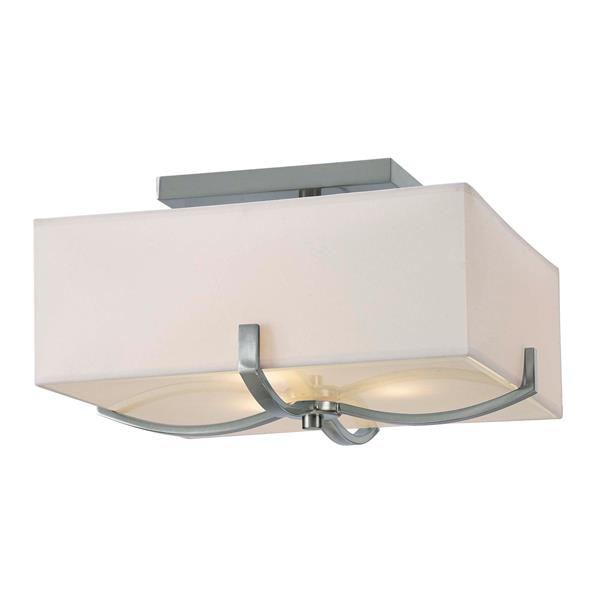 Canarm Ltd Palmer 15-in x 8-in Nickel Flushmount