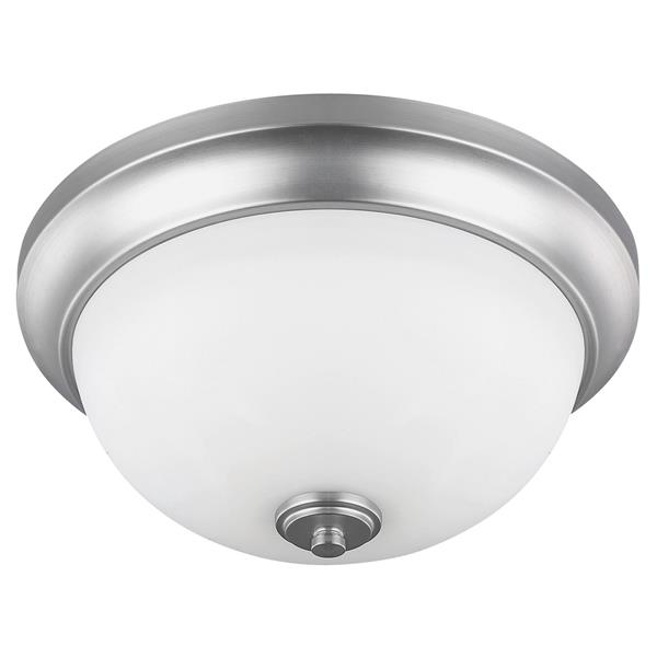 Canarm Ltd New Yorker 13-in x 6-in Brushed Pewter Flushmount